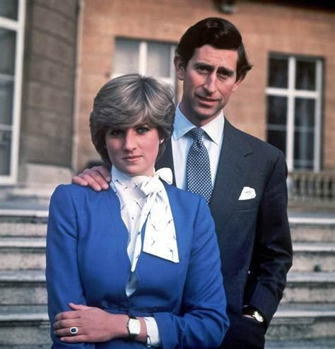 Леди Диана и принц Чарльз в день обручения