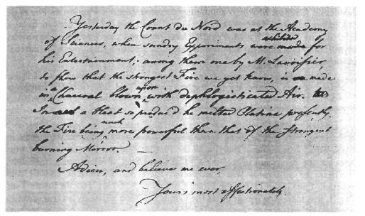 Фото 2.Последний абзац письма Франклина, написанного 7 июня 1782 года