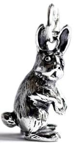 Фигурка зайца из серебра сувенир