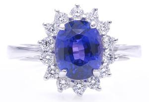 Кольцо с Цейлонским сапфиром принцессы Дианы_фото davidwein.com