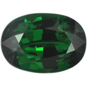 Цаворит темно-зеленого цвета