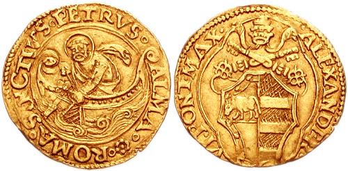 Золотой флорин. Вес 3,38 гр. 1492-1503 г. Италия