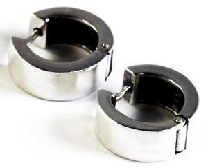 серьги-кольца широкие унисекс