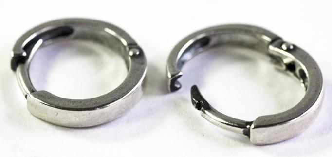 Серьги конго серебряные унисекс