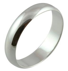 Мужское обручальное кольцо из платины