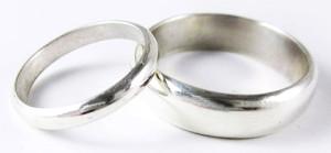 обручальноые кольца из серебра