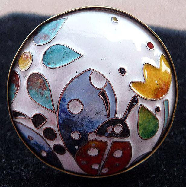 Кольцо перегородчатая эмаль, фото MetalloFon