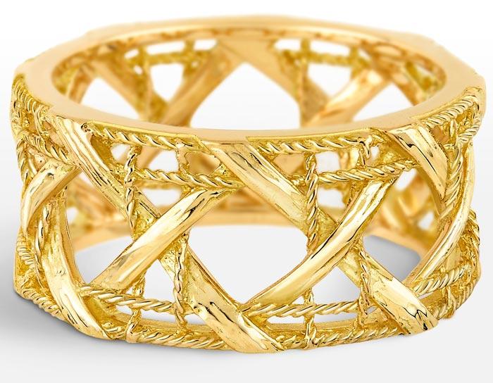 стильные золотые кольца
