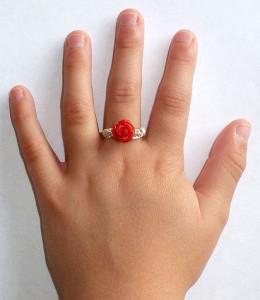 Кольцо для маленькой девочки
