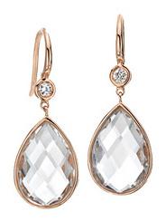 Серьги-капли с кристаллами
