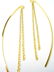 Серьги-протяжки цепочками