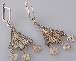 Эквадорские серьги из серебряной филиграни