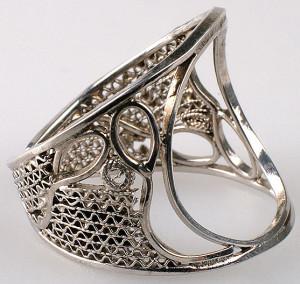 Кольцо из Эквадора серебро скань