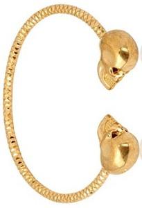 Золотой браслет McQueen - фото luisaviaroma.com