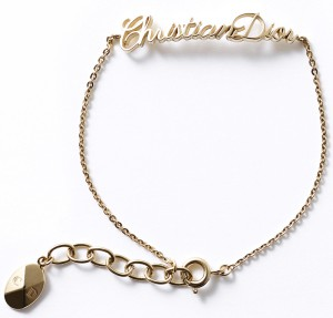 Золотой браслет-цепочка Диор dior.com