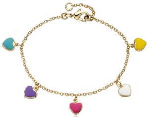 Детский браслет-цепочка с сердцами - фото overstock.com