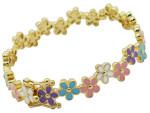 Детский позолоченный браслет-обруч с цветной эмалью - фото overstock.com