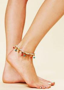 Индийский анклет на ноге - фото pinterest.com
