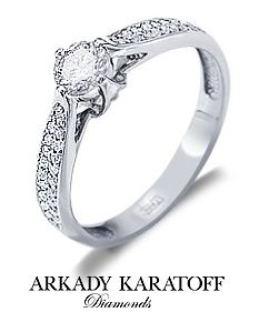 Кольцо с бриллиантом. Karatoff