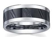 Мужское кольцо из керамики и кобальта - фото Overstock.com