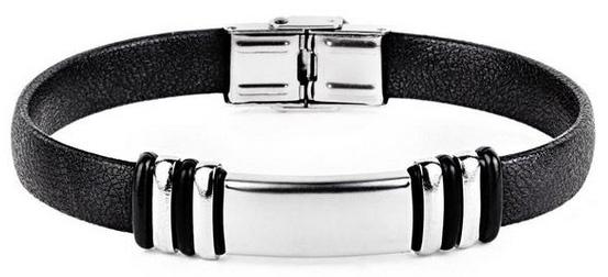Мужские металлические кожаные браслеты