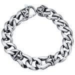 Мужской браслет-цепь с плетением в виде лилии - фото overstock.com