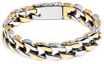 Мужской двухцветный браслет-цепь в античном стиле - фото overstock.com