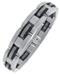 Мужской глиндерный браслет из нержавеющей стали - фото overstock.com