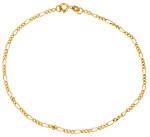 Ножной браслет-цепь плетения фигаро - фото overstock.com