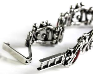 Шарнирный замок браслета - бугельный с накидной скобой