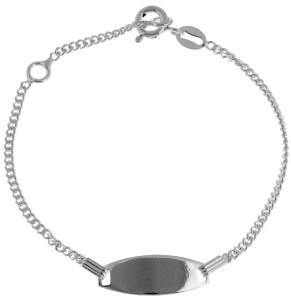 ID-браслет из серебра для мальчика - фото overstock.com