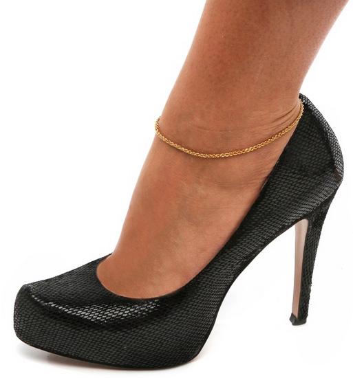 Браслет на ногу из золота спб