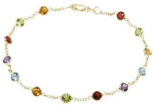 Золотой ножной браслет с самоцветами - фото www.alibaba.com