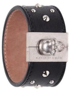 Кожаный браслет McQueen - фото luisaviaroma.com