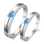парные кольца с камнем-gullei.com