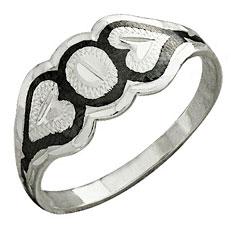 Серебряное кольцо с чернением - Кубачи, фото kubachi.su