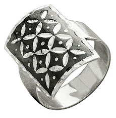Серебряное кольцо в технике чернения, Кубачи - kubachi.su