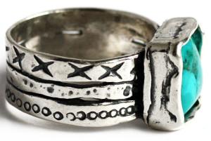 Кольцо из черненого серебра, Израиль