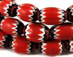 Пятислойные венецианские бусины шеврон красного цвета найденные в Африке-etsy.com