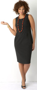 Dresses-for-Women-Sheath-Dress-Plus-size-styling-with-necklace-glamcheck.com