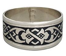 Кольцо серебряное с чернением Северная чернь - sevchern.ru
