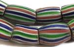 Венецианские бусины шеврон дыня радужной окраски - использовались в африканской торговле - etsy.com
