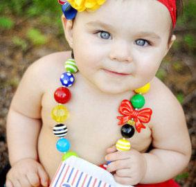 Бусики для малышки - фото etsy.com