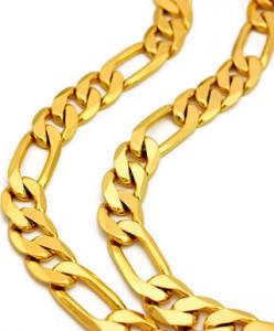 Мужская-золотая-цепочка-плетения-фигаро---dhgate.com