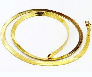 Золотая-плоская-цепочка-унисекс---lorien.co.nz