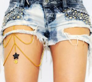Нательная цепочка на ногу - фото etsy.com