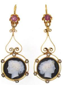 Серьги-камеи 19 век - beladora.com