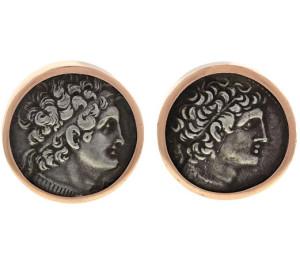 Викторианские запонки с настоящими античными монетами (египетские правители) - beladora.com