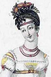 Типичный женский образ стиля классицизм 1813г. - vintagevictorian.com
