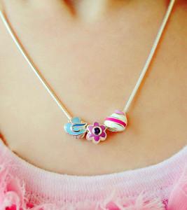Серебряная детская цепочка с родированием - фото beautifulbaby.com